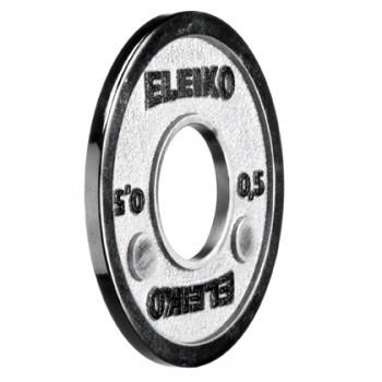Eleiko - Powerlifting - Hantelscheibe - 0,5 kg - silber
