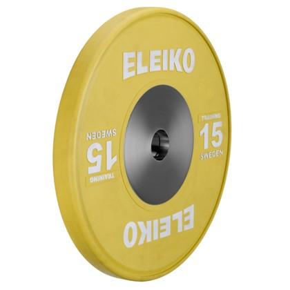 Eleiko - Gewichtheben - Training - Hantelscheibe - 15,0 kg - gelb