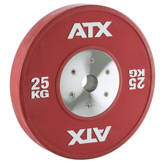 HQ-Rubber Bumper Plates Hantelscheibe 25 kg rot