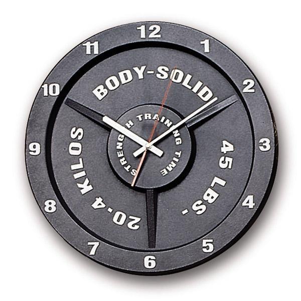 Trainings-Uhr im Hantelscheibendesign
