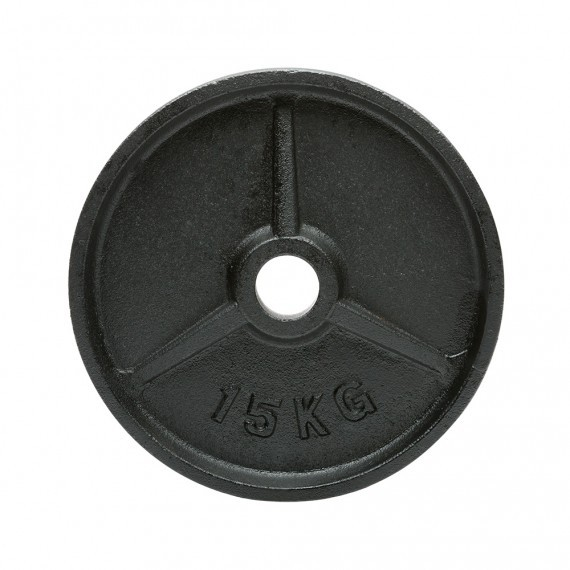 Hantelscheibe - Guss - 51 mm - 15 kg