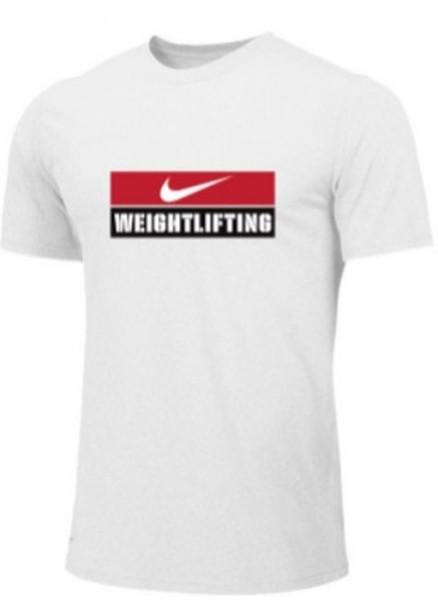 Nike Weightlifting Logo Shirt weiß