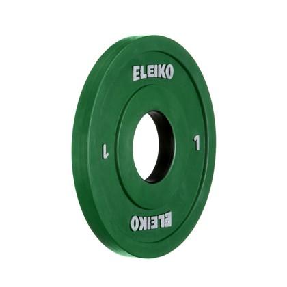 Eleiko - Gewichtheben - Wettkampf - Hantelscheibe - 1,0 kg - grün - RC