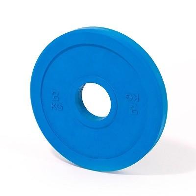 Gewichtheben - Training - Hantelscheibe - 2 kg - blau