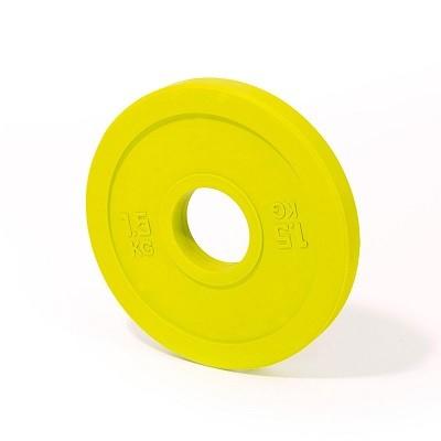 Gewichtheben - Training - Hantelscheibe - 1,5 kg - gelb