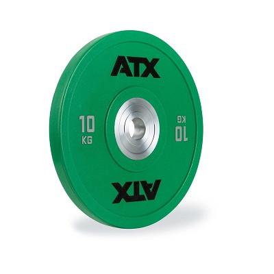 Hantelscheibe Polyurethan 10 kg grün - ATX Gewichtheben Wettkampfqualität