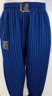 Bodybuildinghose blau-schwarz breite Streifen