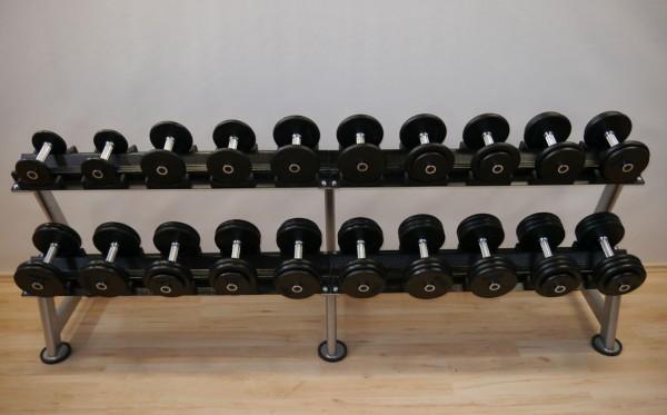 Kompakthantelsatz - Guss - 2,5 kg Abstufung