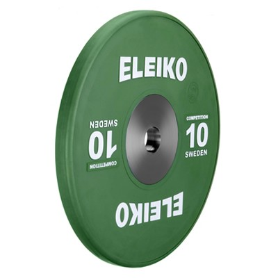 Eleiko - Gewichtheben - Wettkampf - Hantelscheibe -10,0 kg - grün