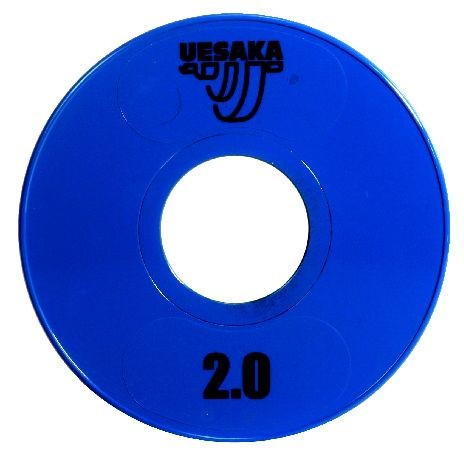 UESAKA - 2,0 kg Wettkampfhantelscheibe - blau - Metall