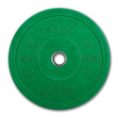 Bumper Plate - Trainingshantelscheibe- Gummi - 10 kg - grün