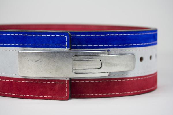 Inzer Lever Belt rot/weiß/blau Gr. M