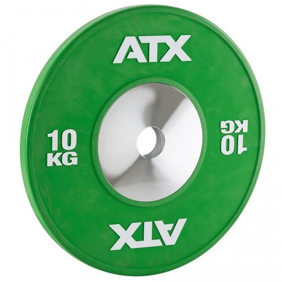 HQ-Rubber Bumper Plates Hantelscheibe 10 kg grün