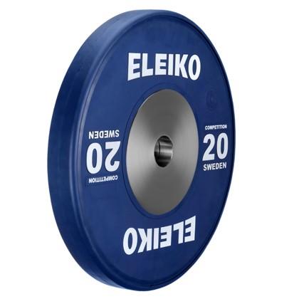 Eleiko - Gewichtheben - Wettkampf - Hantelscheibe -20,0 kg - blau