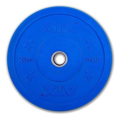 Bumper Plate - Trainingshantelscheibe- Gummi - 20 kg - blau
