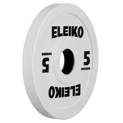 Eleiko - Gewichtheben - Wettkampf - Hantelscheibe - 5,0 kg - weiß