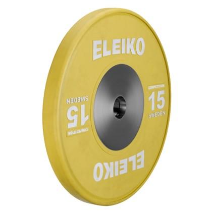 Eleiko - Gewichtheben - Wettkampf - Hantelscheibe -15,0 kg - gelb