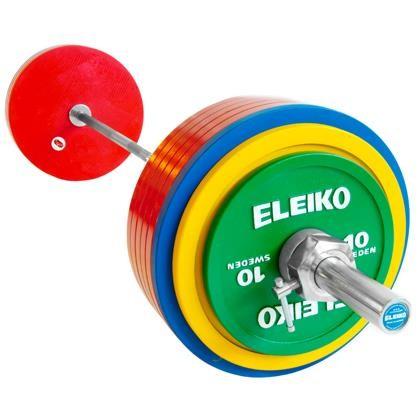 Eleiko - Powerlifting - Wettkampf - Hantelsatz 185,0 kg mit IPF-Zertifizierung