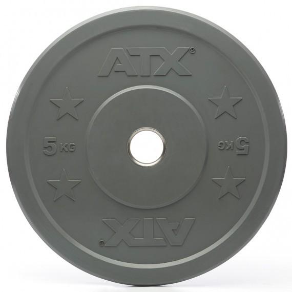 Bumper Plate - Trainingshantelscheibe- Gummi - 5 kg - grau