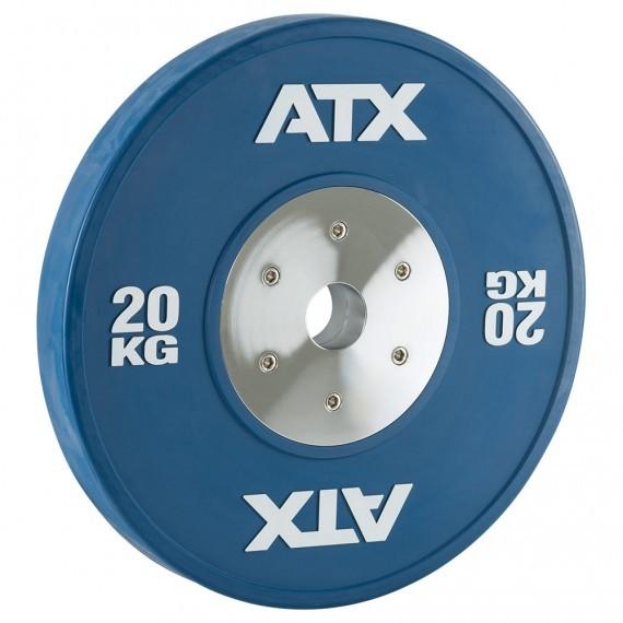 HQ-Rubber Bumper Plates Hantelscheibe 20 kg blau