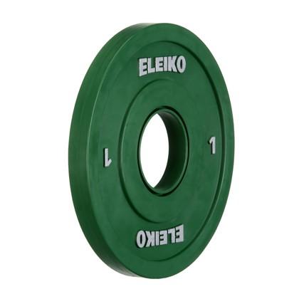 Eleiko - Gewichtheben - Wettkampf - Hantelscheibe - 1,0 kg - grün - Friction-Grip