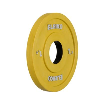 Eleiko - Gewichtheben - Wettkampf - Hantelscheibe - 1,5 kg - gelb - RC