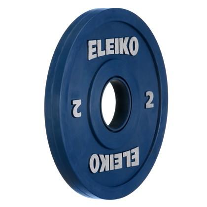 Eleiko - Gewichtheben - Wettkampf - Hantelscheibe - 2,0 kg - blau - Friction-Grip