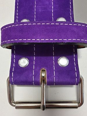 Inzer - Buckle Belt - Single Prong - lila / purple - 10 mm