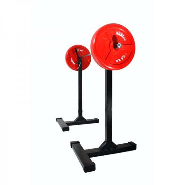 Kniebeugenständer für Gewichtheber m. feststellb. Arretierung