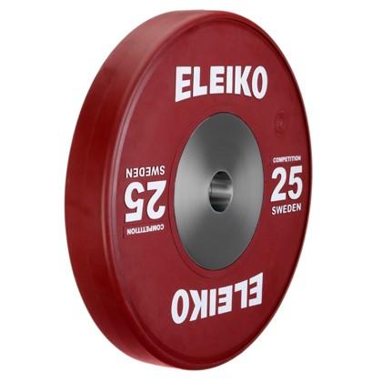 Eleiko - Gewichtheben - Wettkampf - Hantelscheibe -25,0 kg - rot