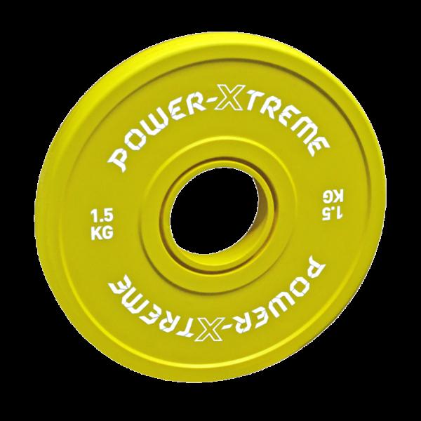 Power X-TREME Frictional Disc gummiert - 50 mm - gelb - 1,5 KG