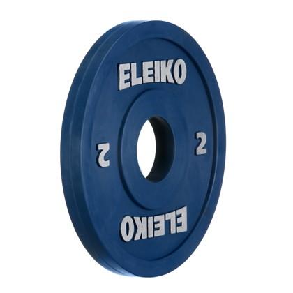 Eleiko - Gewichtheben - Wettkampf - Hantelscheibe - 2,0 kg - blau - RC