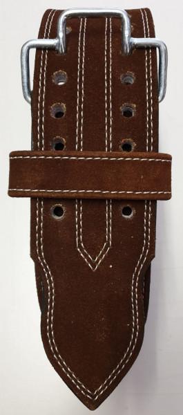 Einhand-Doppeldorn Gürtel braun / One Hand Double Prong Belt brown