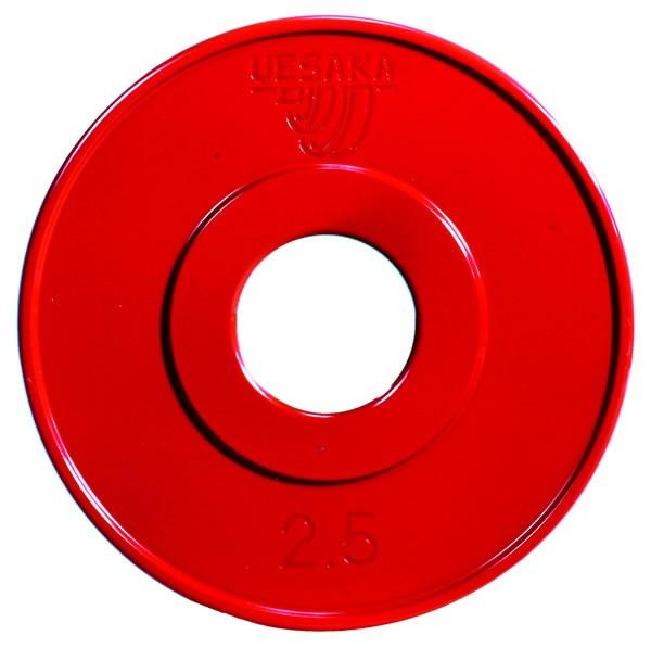 UESAKA - 2,5 kg Wettkampfhantelscheibe - rot - Metall