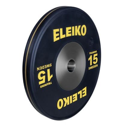 Eleiko - Sport Training - Hantelscheibe - 15,0 kg - schwarz