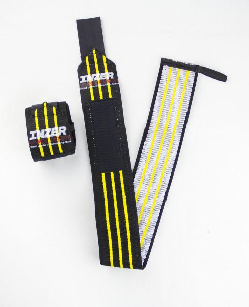 Inzer - Atomic Wrist Wraps - yellow / gelb 0,30 m