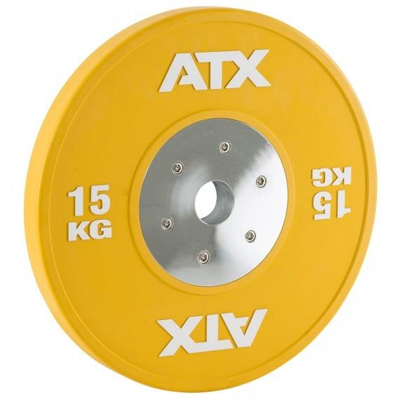 HQ-Rubber Bumper Plates Hantelscheibe 15 kg gelb