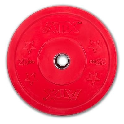 Bumper Plate - Trainingshantelscheibe- Gummi - 25 kg - rot