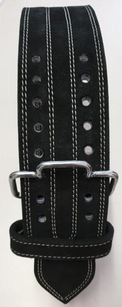 Einhand-Doppeldorn Gürtel schwarz / One Hand Double Prong Belt black
