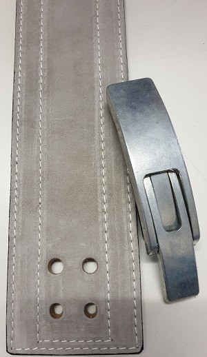 Inzer - Lever Belt - silbergrau / silver grey - 10 mm