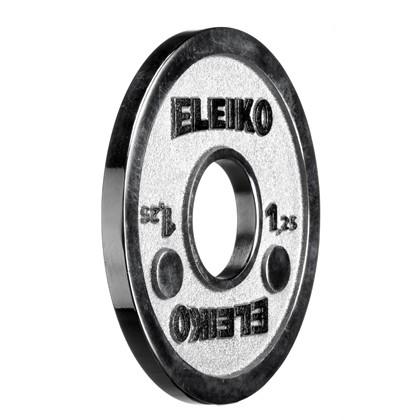Eleiko - Powerlifting- Hantelscheibe - 1,25 kg - silber